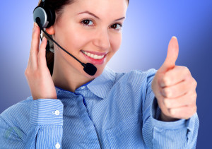 female-call-center-agent-thumbs-up