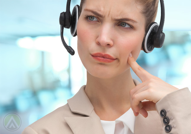customer-service-agent-evaluating-angry-callers-problem--Open-Access-BPO