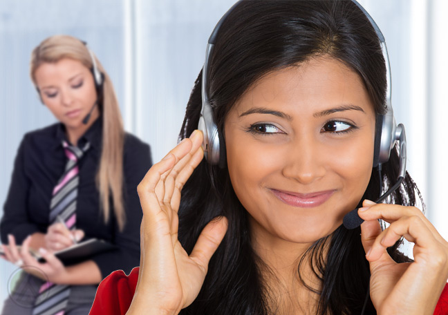 Improve-customer-support-by-instilling-purpose-in-CSRs--female-CSR-being-audited--Open-Access-BPO