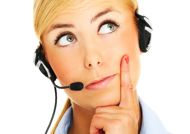 thinking-female-call-center-agent