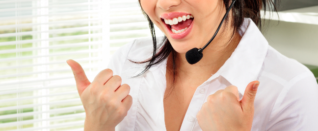 woman-call-center-agent-with-thumbs-up
