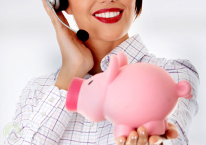 female-agent-holding-piggy-bank