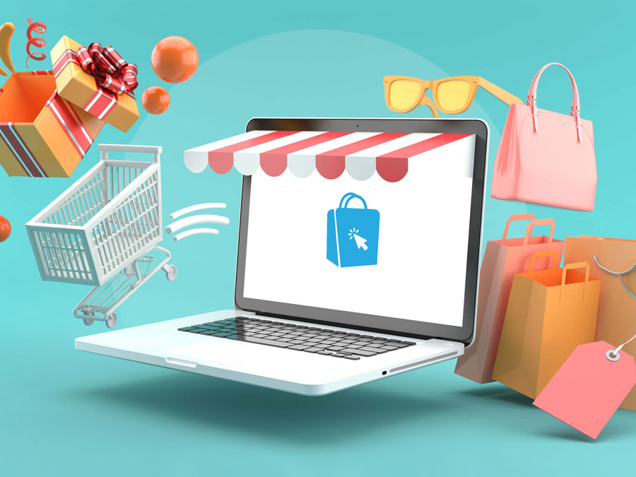 laptop on ecommerce online shopping site