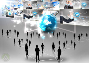 human-network-social-media-icons