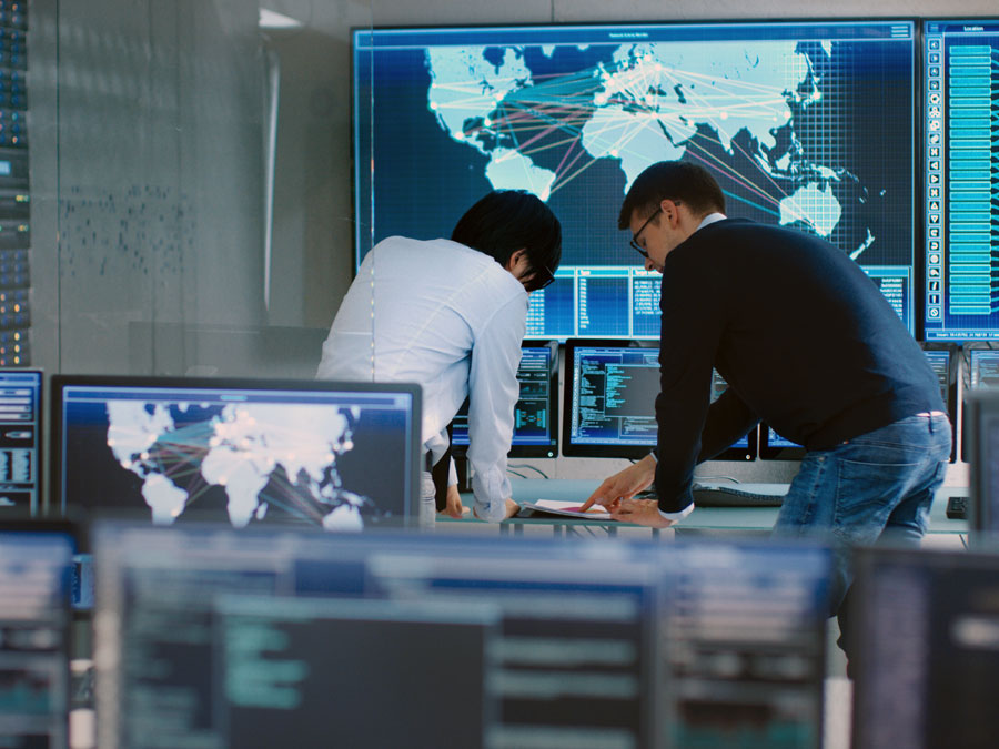 BPO business process outsourcing managers monitoring call center in the Philippines