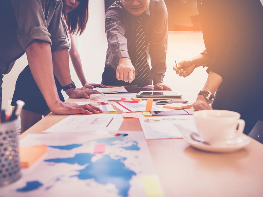 outsourcing business partners in a planning meeting