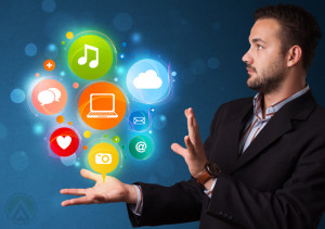 businessman-with-social-media-icons