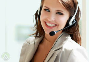 smiling-female-outbound-call-center-agent