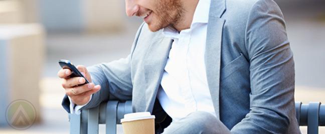 male-customer-on-smartphone-SMS-customer-service
