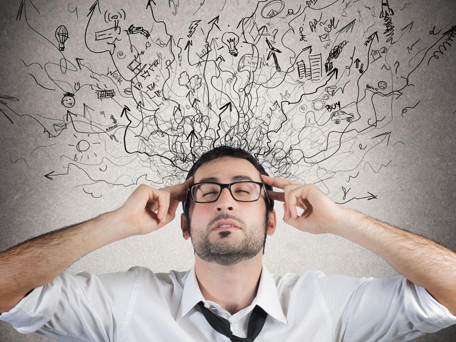 social media customer service agent thinking hard