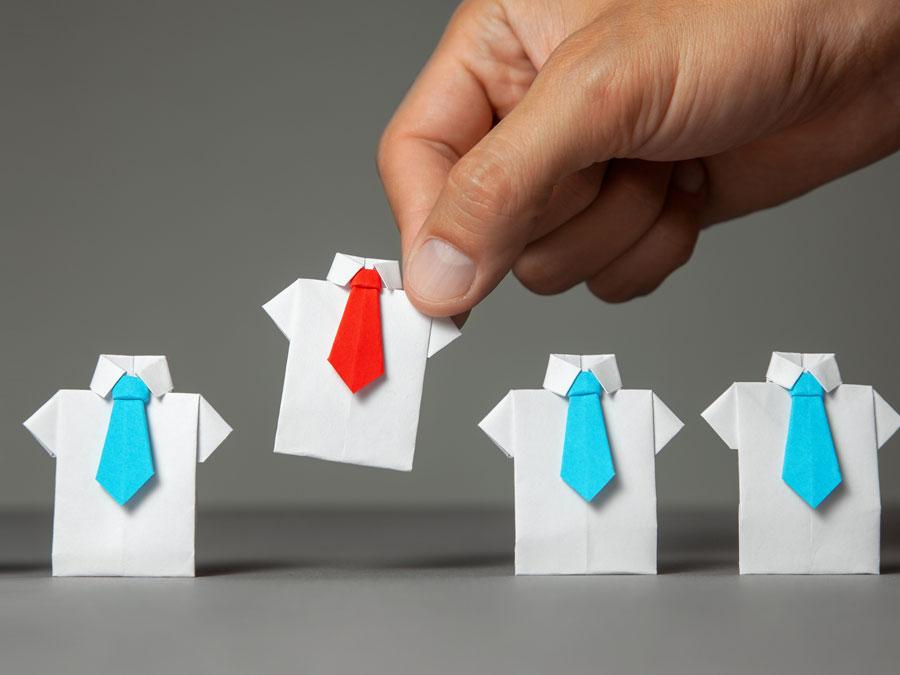 recruitment hand picking origami employees