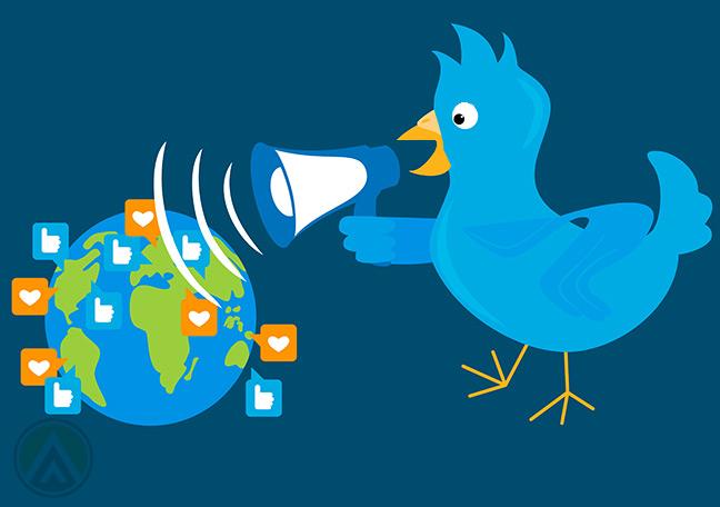 Twitter-bird-holding-megaphone