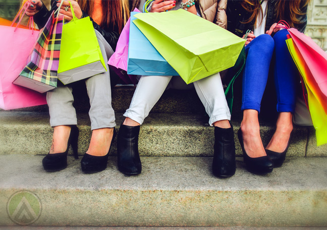 female-shoppers-with-shopping-bags