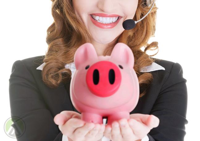 call-center-customer-service-agent-holding-a-piggybank