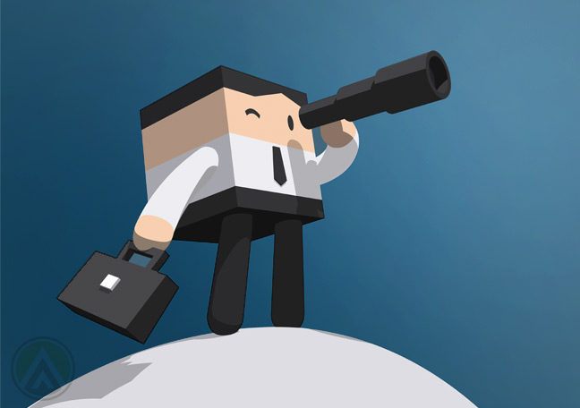 cube-businessman-looking-into-telescope