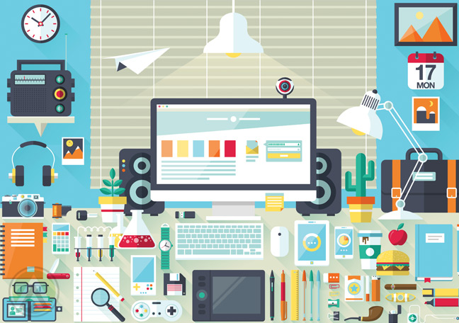 desktop-computer-with-web-graphic-design-tools
