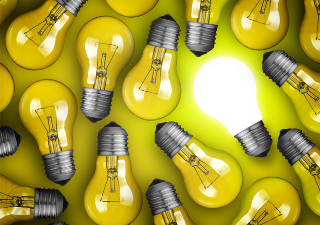yellow-bulbs-on-yellow-background