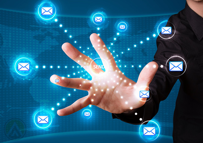 business-in-black-holding-palm-against-emails