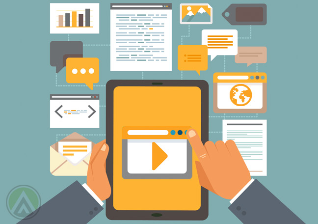 flat-design-on-multimedia-use-with-tablet-video-email
