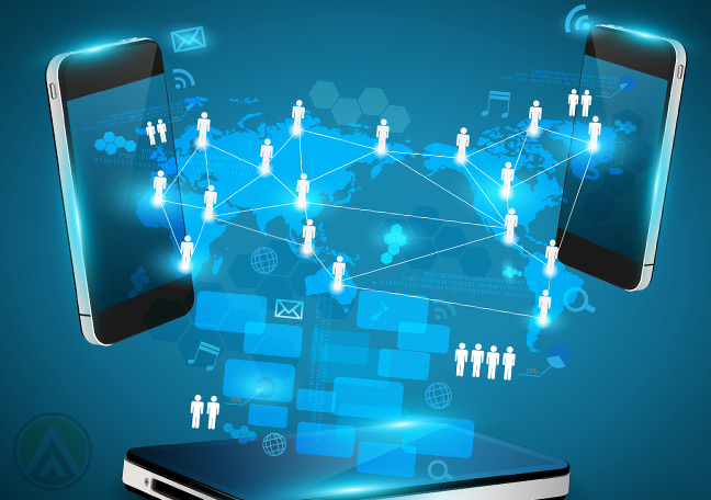 smartphones-facing-each-other-projecting-connection-in-a-social-media-crm-app-interface