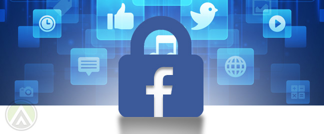facebook-padlock-amid-social-media-background
