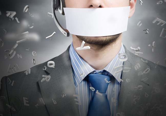 male-telemarketing-agent-with-tape-over-mouth