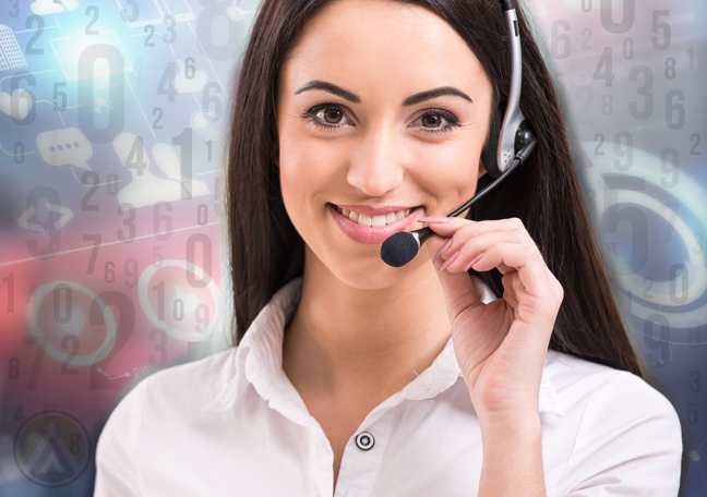 smiling-female-customer-service-agent-with-numbers-floating-in-the-backdrop