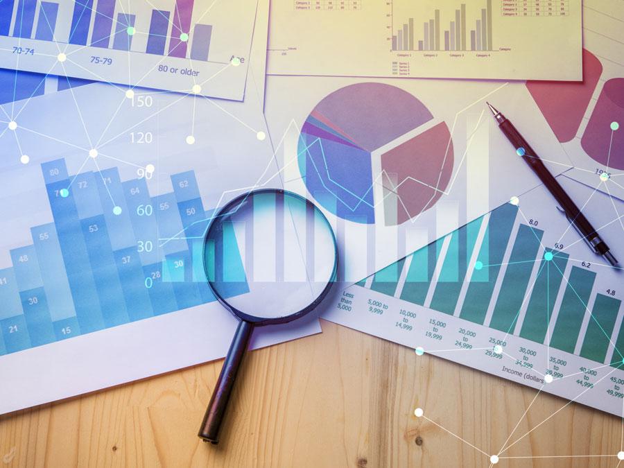magnifying lens data analysis