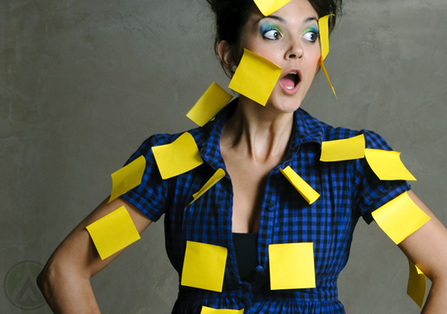 surprised-woman-covered-in-postit-notes