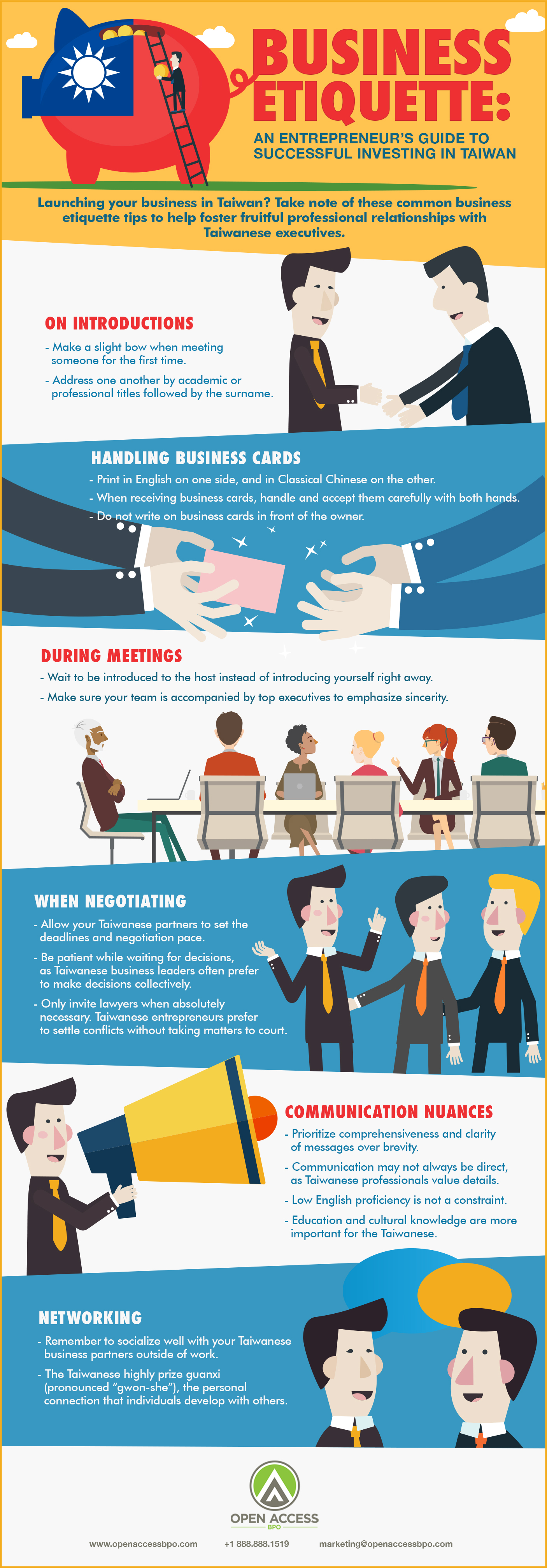 Taiwan business etiquette infographic