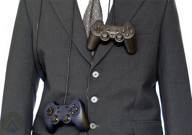 businessman-in-suit-game-console-controllers-hang