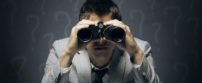 businessman-looking-through-binoculars-surrounded-by-question-marks