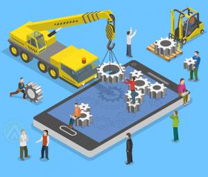 miniature-people-tractor-building-smartphone-app-cogs