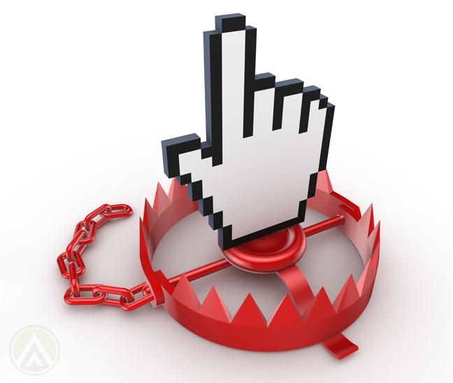 computer-hand-finger-cursor-on-bear-trap