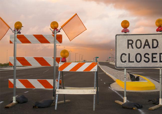 closed-road-blockage