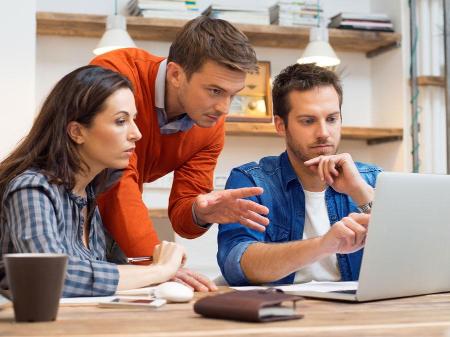 customer service team resolving a social media crisis