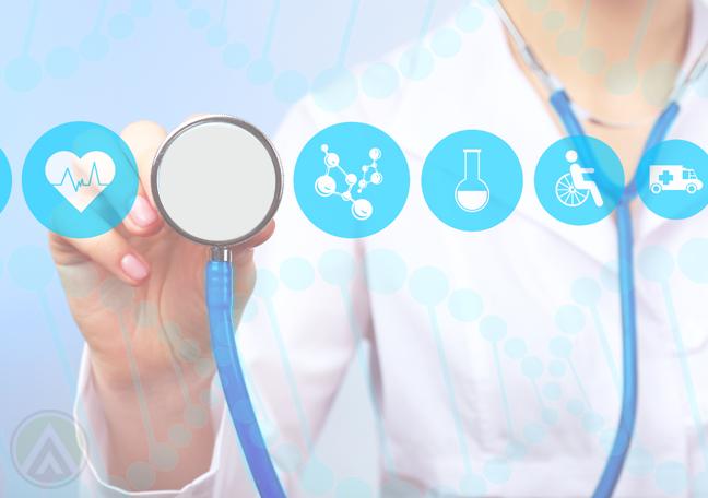 female-healthcare-provider-using-virtual-component