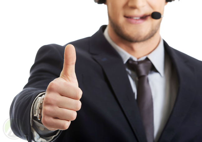 male-call-center-agent-giving-the-thumbs-up