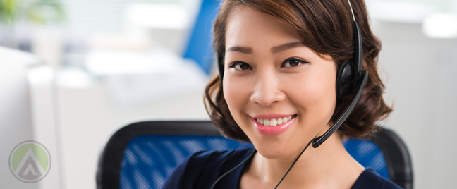 smiling-Asian-call-center-agent