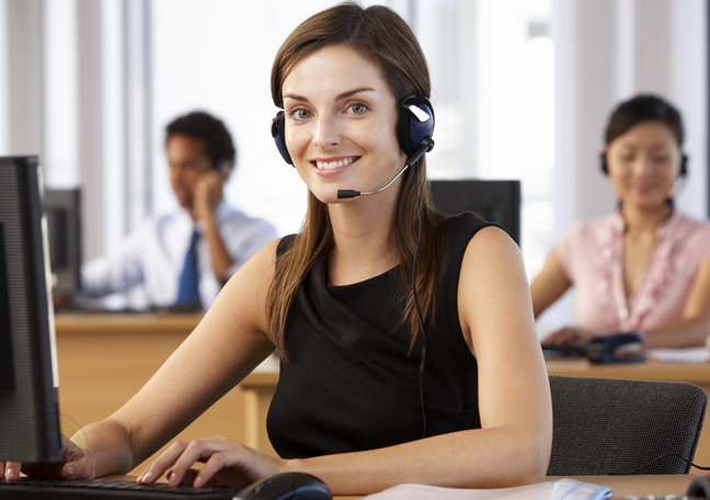 smiling-caucasian-female-customer-service-in-a-call-center
