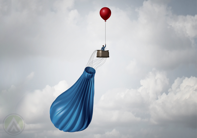 deflated-hot-air-balloon-with-red-balloon-carrying-basket