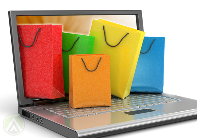 colorful-shopping-bags-coming-out-of-laptop