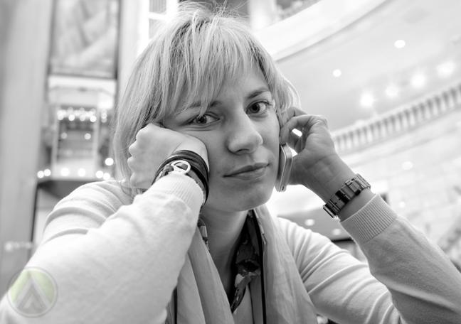 impatient woman on phone