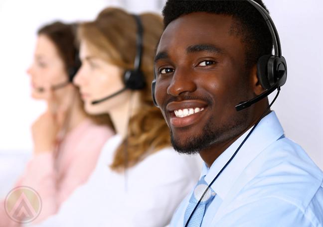 busy call center team