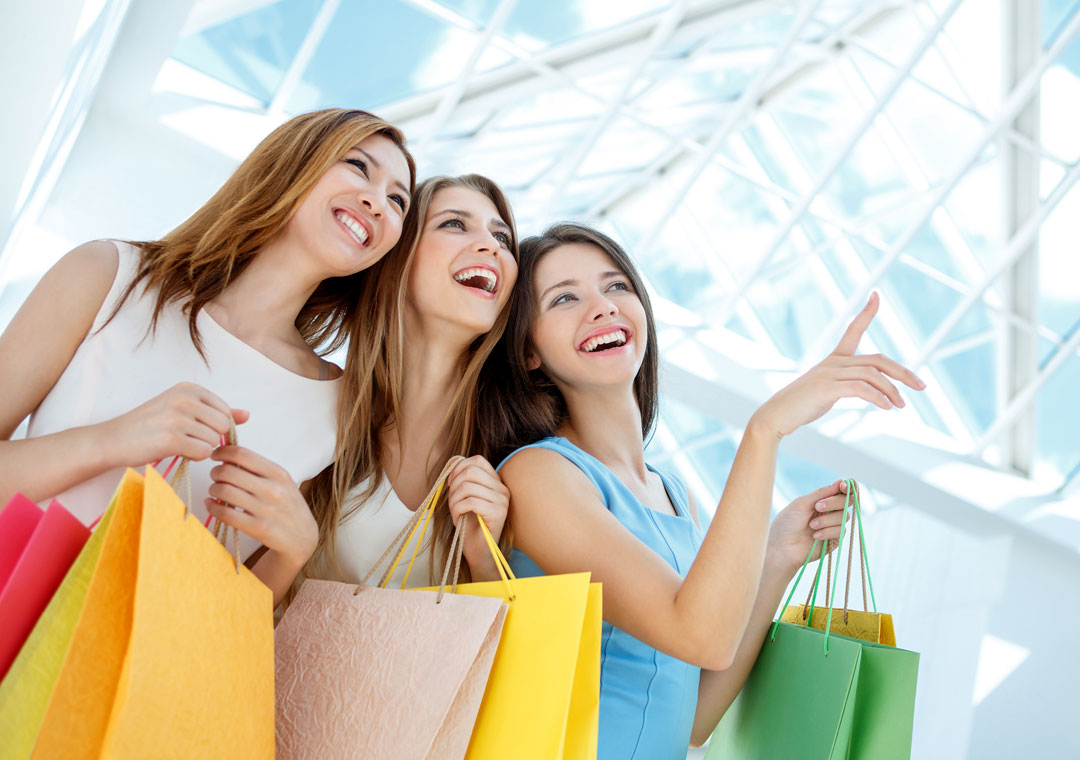 customer loyalty depiction women happy shopping