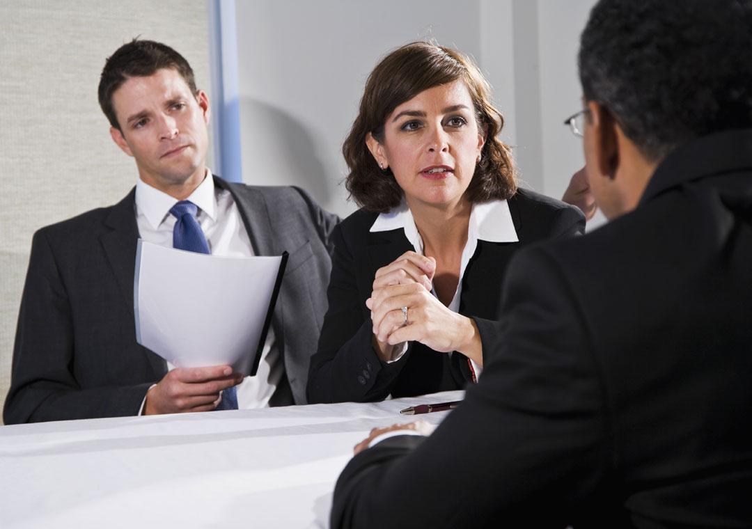 business executives building partnership
