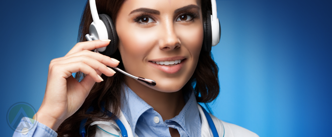 healthcare provider in customer service call center