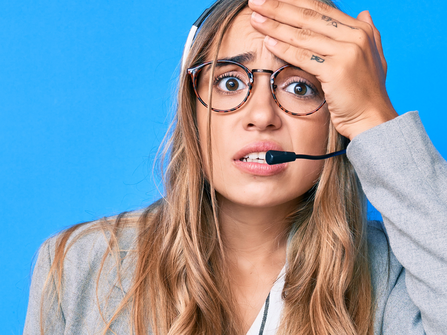 stressed out call center agent