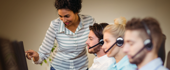 call center manager coaching customer service agents