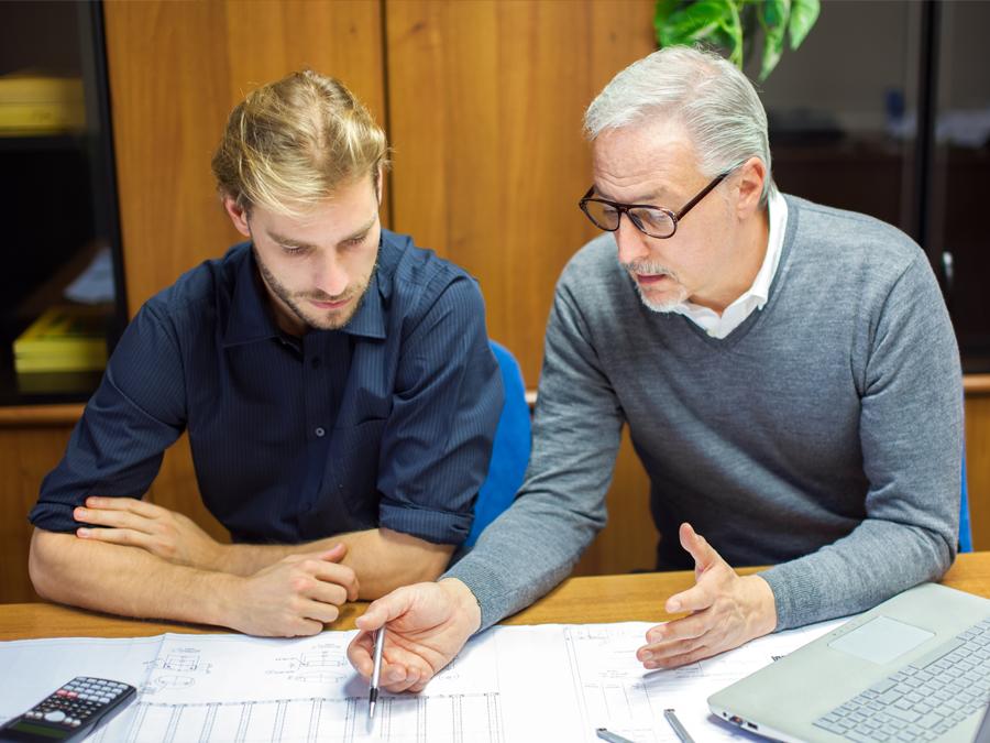 employee mentorship training with team leader boss